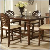 Hillsdale Woodridge Counter Height Dining Table in Walnut