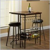 Hillsdale Bardstown Bar Table With Two Backless Non-Swivel Stools