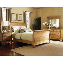 Hillsdale Hamptons 4 Piece Bedroom Set in Pine