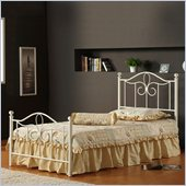 Hillsdale Westfield Metal Poster Bed 3 Piece Bedroom Set in Off White