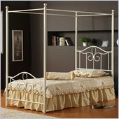 Hillsdale Westfield Metal Canopy Bed 3 Piece Bedroom Set in Off White