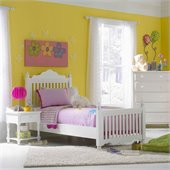 Hillsdale Lauren Poster Bed 3 Piece Bedroom Set in Pure White