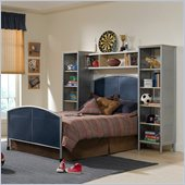 Hillsdale Universal Youth Panel Bed 3 Piece Bedroom Set in Navy/Silver