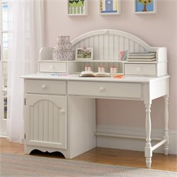 Hillsdale Westfield Desk and Hutch in Off White