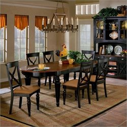 Hillsdale Northern Heights 7-Piece Dining Set in Black Honey