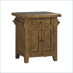 Hillsdale Tuscan Retreat Granite Top Kitchen Island in Antique Pine
