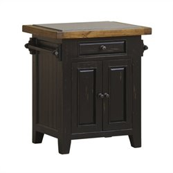 Hillsdale Tuscan Retreat Granite Top Kitchen Island in Black