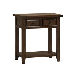 Hillsdale Tuscan Retreat 2 Drawer Console Table in Rustic Mahogany