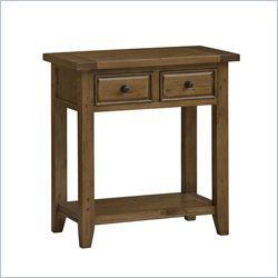 Hillsdale Tuscan Retreat 2 Drawer Console Table in Antique Pine