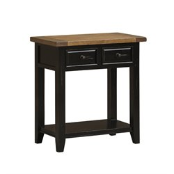 Hillsdale Tuscan Retreat 2 Drawer Console Table in Black and Oxford