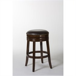 Hillsdale Tillman 30 Backless Swivel Bar Stool in Brown Cherry