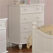 Hillsdale Westfield Kids 4 Drawer Chest in Off-White Finish