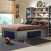 Hillsdale Universal Youth Storage Platform Bed with Bookcase Headboard