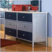 Hillsdale Universal Youth Double Dresser in Steel Finish