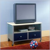 Hillsdale Universal Youth Plasma/LCD Silver & Blue TV Stand