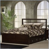 Hillsdale Tiburon Kona Espresso Storage Bed