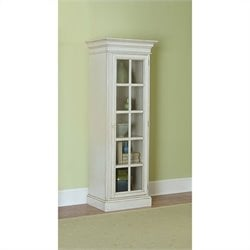 Hillsdale Pine Island Library Cabinet in Old White