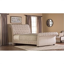 Hillsdale Bombay Upholstered Sleigh Bed in Buckwheat