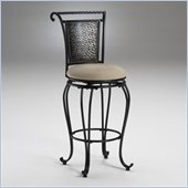 Hillsdale Milan Black 26 Inch Swivel Counter Stool