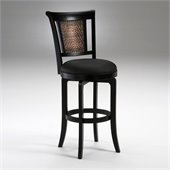 Hillsdale Cecily Black 26.5 Swivel Counter Stool in Brown Vinyl