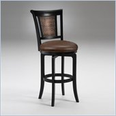 Hillsdale Cecily 30.5 Inch Swivel Bar Stool in Black and Brown