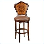 Hillsdale Lyon 26.5 Inch Brown Swivel Counter Stool