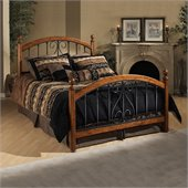 Hillsdale Burton Way Metal Poster Bed in Black Powder Coated Finish