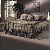 Hillsdale Edgewood Metal Panel Bed in Magnesium Pewter Finish
