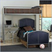 Hillsdale Universal Youth Loft Metal Study Center 3 Piece Bedroom Set