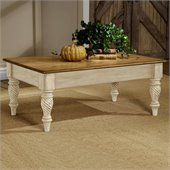 Hillsdale Wilshire Distressed Rectangular Cocktail Table in Antique White Finish