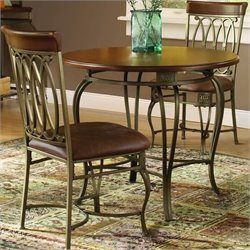 Hillsdale Montello Dining Chair in Distressed Brown Finish (Set of 2)