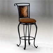 Hillsdale Milan 26 Swivel Seat Counter Stool in Copper