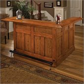 Hillsdale Classic Large Oak Wrap Around Home Bar