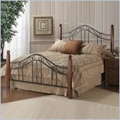 Hillsdale Madison Metal Poster Bed in Black