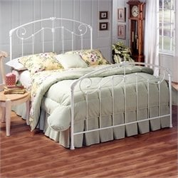 Hillsdale Maddie White Metal Panel Bed
