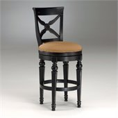 Hillsdale Northern Heights 26 Swivel Counter Stool in Black and Honey