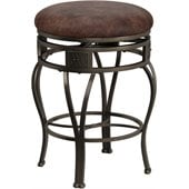 Hillsdale Montello 26 Inch Swivel Faux Leather Counter Stool
