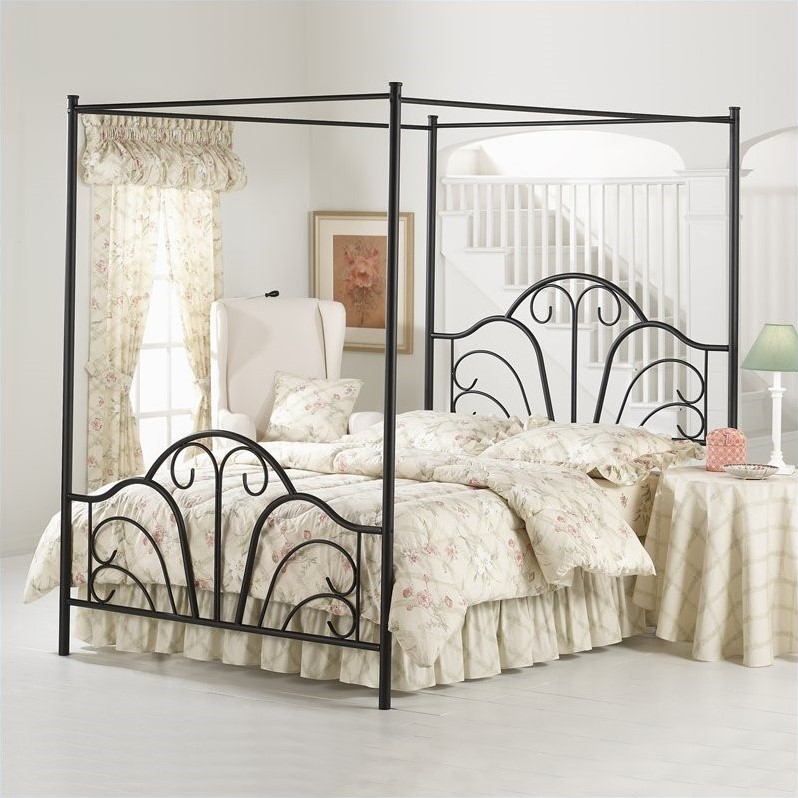 hillsdale dover black metal canopy bed ebay