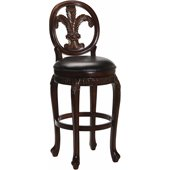 Hillsdale Fleur De Lis 25 Inch Counter Height Swivel Bar Stool
