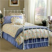 Hillsdale Molly White Metal Panel Bed