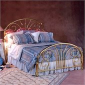 Hillsdale Jackson Classic Brass Metal Panel Bed
