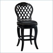 Hillsdale Braxton 30 Inch Leather Wood Bar Stool