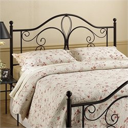 Hillsdale Milwaukee Metal Headboard in Dark Brown Antique Finish