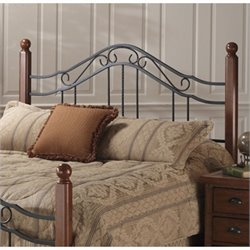 Hillsdale Madison Metal Headboard in Antique Black Finish