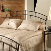 Hillsdale Vancouver Metal Headboard in Dark Brown Antique Finish