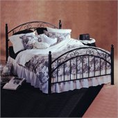 Hillsdale Willow Metal Poster Bed in Matte Black Finish