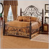 Hillsdale Bonaire Metal Poster Bed in Brushed Bronze Finish
