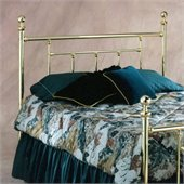Hillsdale Chelsea Metal Headboard in Classic Brass