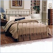 Hillsdale Charleston Metal Sleigh Bed in Antique Brass Finish