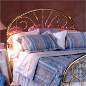 Hillsdale Jackson Metal Headboard in Classic Brass